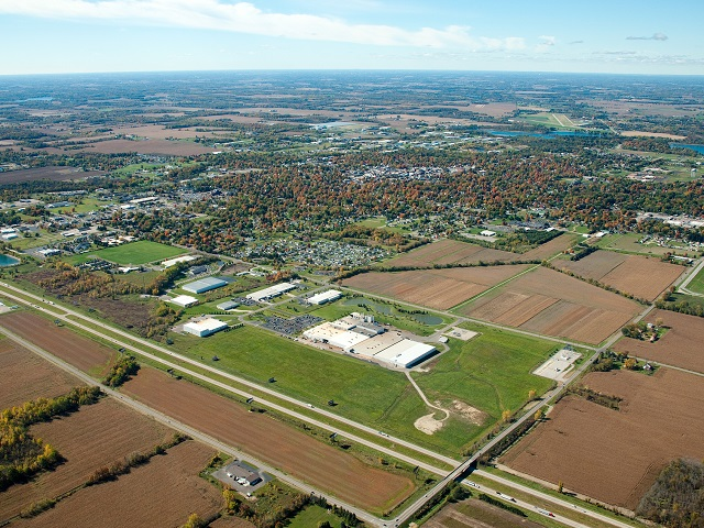 ACM Coldwater Michigan aerial city view