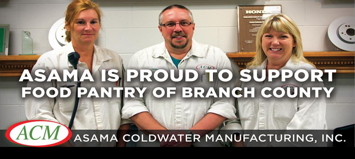 We support Food Bank of Branch County