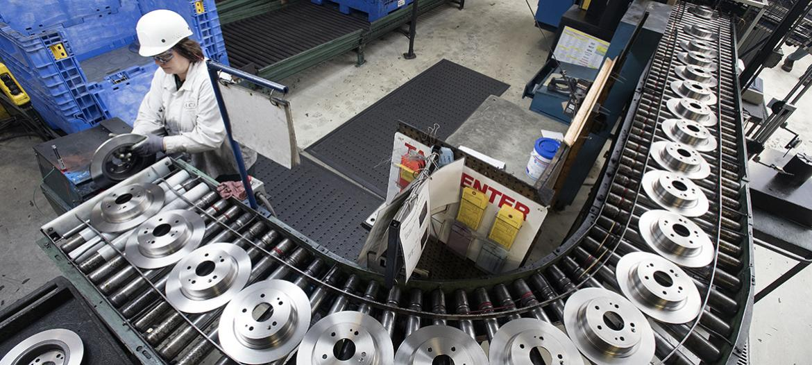 Machining rear disc packout inspection