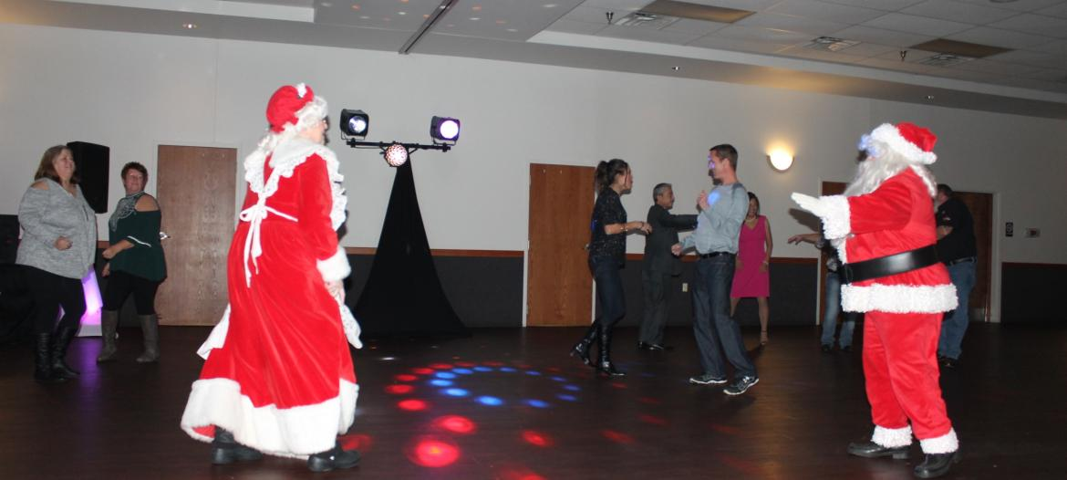 Santa Mrs Clause Christmas Dance Party